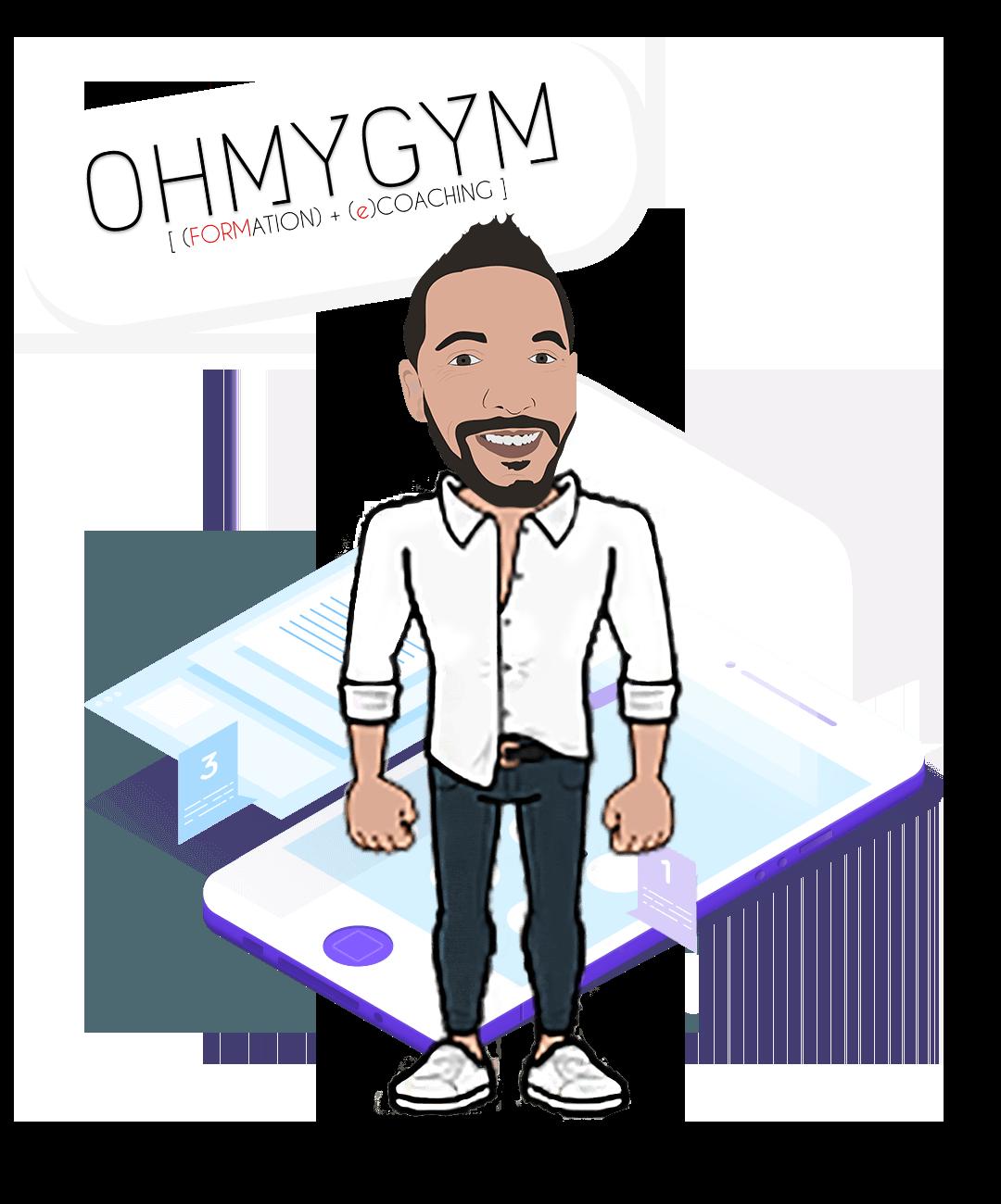 Erwan Formateur avec logo ohmygym et icone